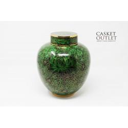 Cloisonne Urn, Metal Urn, Copper Urn
