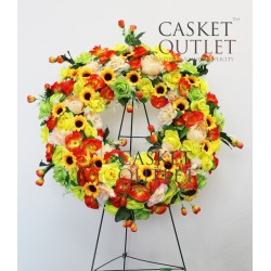 cemetery flower,wreath silk flower