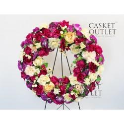 cemetery flower,wreath silk flower