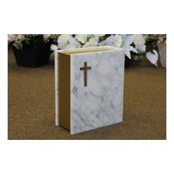 White Book Marble Urn (FS0715)