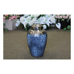 Blue Cloud Brass Urn (FM0640)