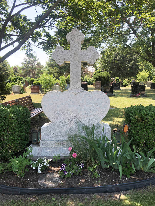 cross shaped monument, cross headstone