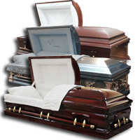 wood caskets and metal caskets