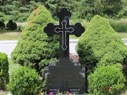 Cross shape headstone