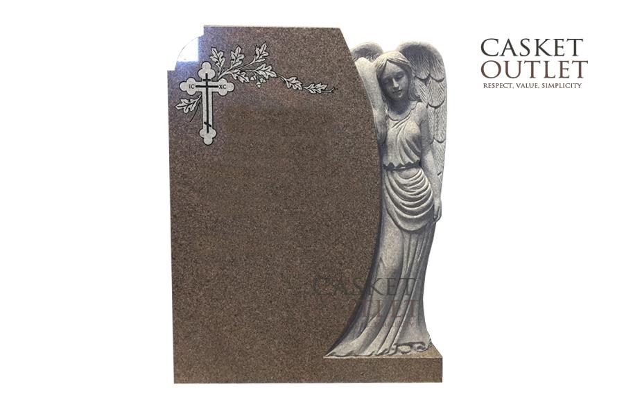 Angel Statue Headstone, Cemetery Monument