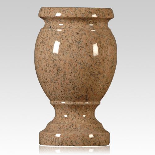 cemetery vase,pink stone vase