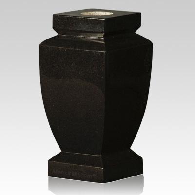 cemetery vase,black square stone vase