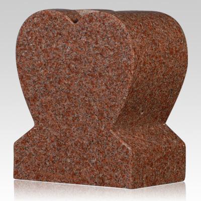 cemetery vase,Cemetery India Red Granite Stone Heart Vase