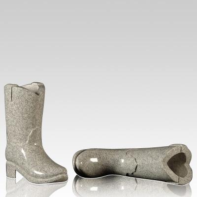 cemetery vase, Cemetery Granite Cowboy Boot Vase