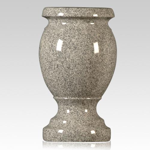 cemetery vase,gray color stone vase