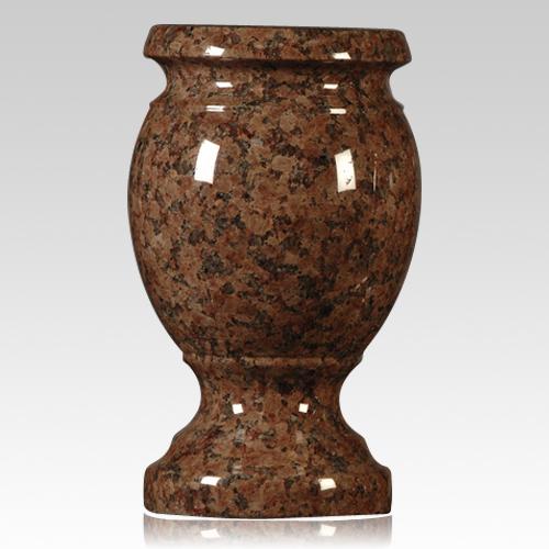 cemetery vase,chapel rose granite vase