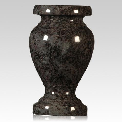 cemetery vase,bahama blue color granite vase