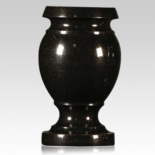 cemetery vase, black granite vase