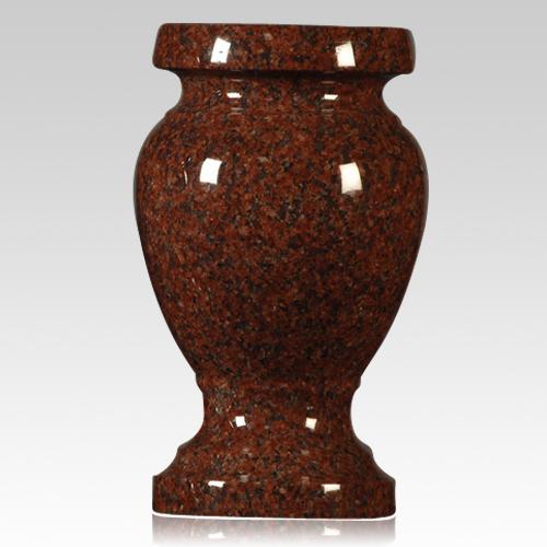 cemetery vase,india red granite vase